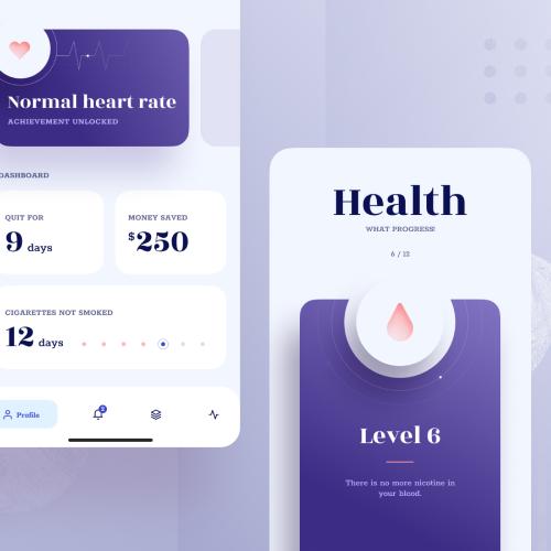 Typography in healthcare app