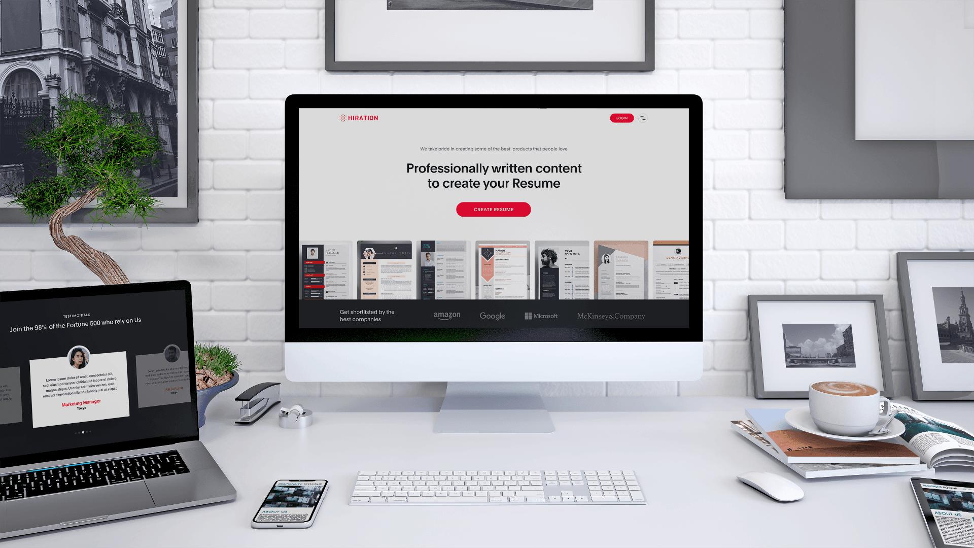 Web Design for Hiration