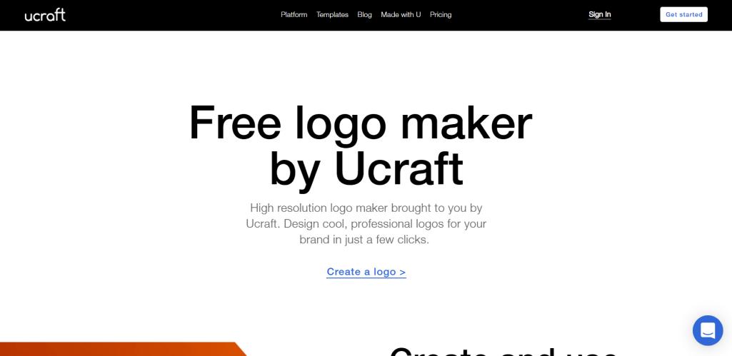 Logo Maker by Ucraft for Logo Design