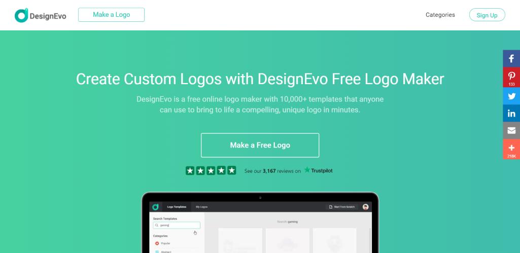 DesignEvo for Logo Design