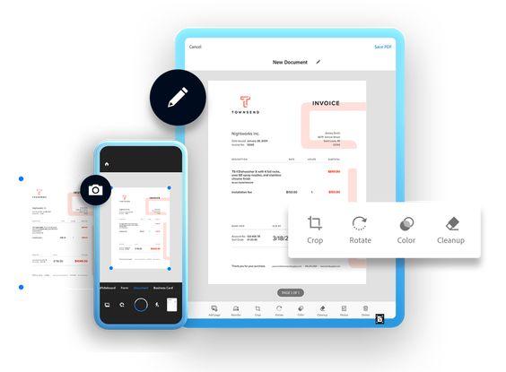 Adobe Scan mobile app