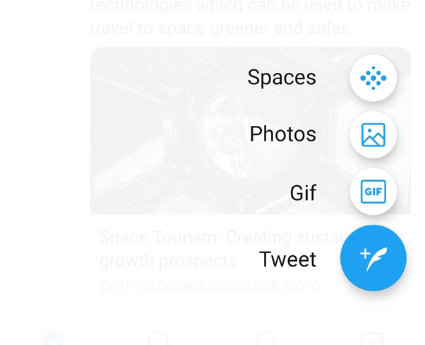 twitter user interface