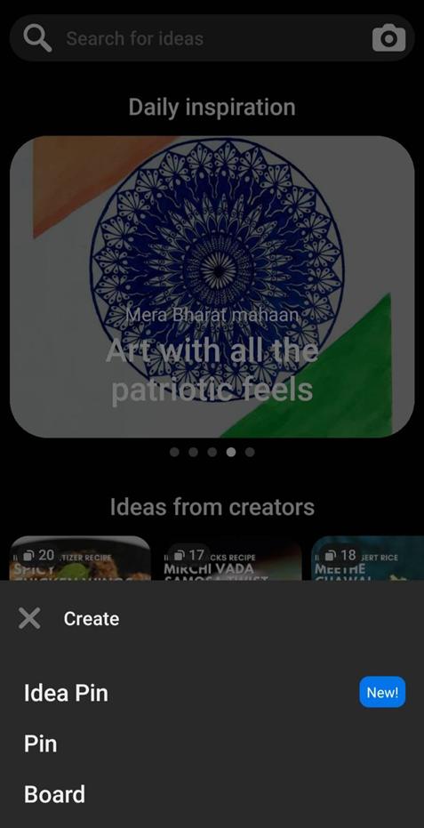 pinterest design interface