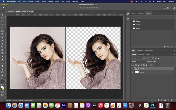 Editing images on Adobe Photoshop