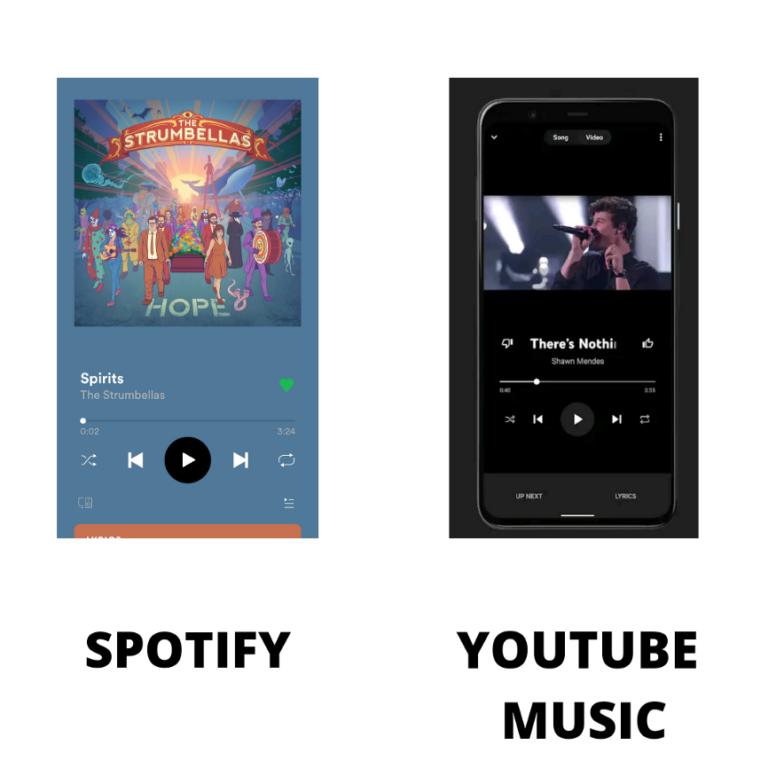 spotify vs youtube music search