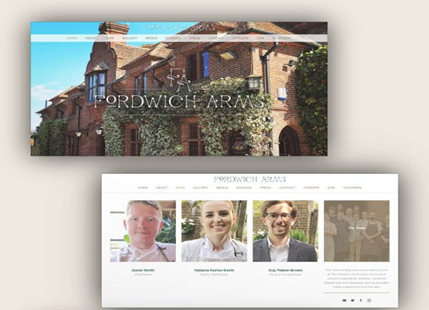 Example hospitality industry website