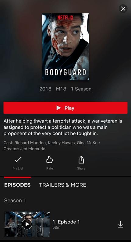 Netflix UI UX