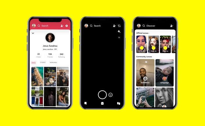 snapchat app design