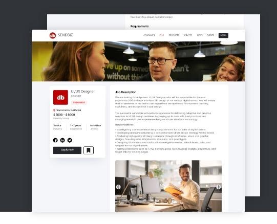 CreateBytes' work for Sendbiz