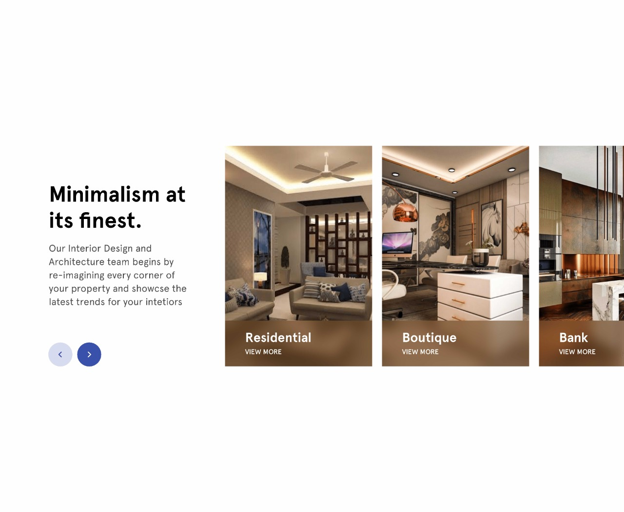 CreateBytes' work for AJ-INTERIORS